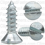 #6 X 1/2 Slotted Oval Head Tapping Screws Zinc