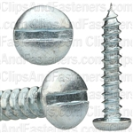 "#6 X 3/4"" Zinc Slotted Pan Head Tapping Screws"