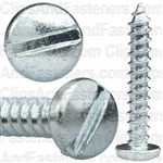 "#8 X 1"" Zinc Slotted Pan Head Tapping Screws"