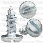 "#10 X 1/2"" Zinc Slotted Pan Head Tapping Screws"