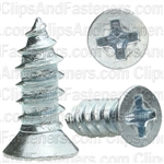 "#8 X 7/16"" Phillips Flat #6 Head Tapping Screw Zinc"