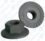 M6-1.0 Metric Spin Lock Nuts With Serrations 17mm Flange