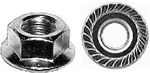 "3/8""-16 USS Spin Lock Nuts With Serrations 3/4"" Flange"