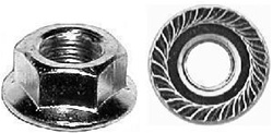 "#8-32 USS Spin Lock Nuts With Serrations 15/32"" Flange"
