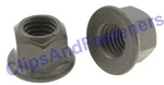 Hex Flange Locknut M10-1.5 20mm Flange