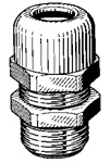 Strain Relief Cord Connector 1/2 Thread
