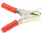 10 Amp Test Clips Red Insulation