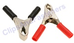 10 Amp Test Clips Black And Red Insulation