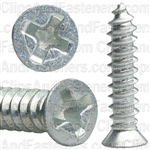 "#8 X 3/4"" Phillips Flat #6 Head Tapping Screw Zinc"