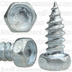 "#12 X 1/2"" Indented Hex Head Tapping Screws Zinc"