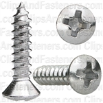 Phillips Oval Head Tap Screw 6 X 5/8 Chrome