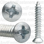 Phillips Oval Tap Screw #8 X 1 Zinc #6 Head