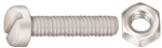 M6-1.0 X 25mm Nat.Nylon License Plt Screw & Nut