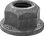 Hex Flange Locknut M6-1.0 Thread 13mm Flange