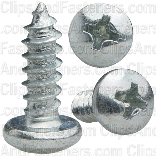 Phillips Pan Head Tap Screw #8 X 1/2 Zinc