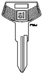 GM Key Blank Groove: B-68 - B&S 322046