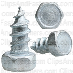 "#14 X 1/2"" Indented Hex Head Tapping Screws Zinc"
