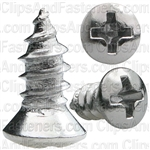 Phillips Oval #6 Head Tap Screw 8X 3/8 Chrome