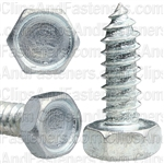 "#14 X 3/4"" Indented Hex Head Tapping Screws Zinc"