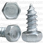 "5/16"" X 3/4"" Indented Hex Head Tapping Screws Zinc"