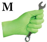 Medium Panther Grip Chemical Resistant Hi-Vis Green Nitrile Disposable Gloves