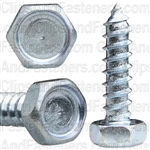 "#14 X 1"" Indented Hex Head Tapping Screws Zinc"