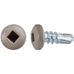 "#10 X 1/2"" Square Pan Self-Drilling Tek Zinc Tan Painted Head"