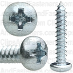 #6 X 3/4 Phillips Pan Head Tap Screw Zinc