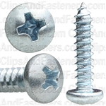 #8 X 3/4 Phillips Pan Head Tap Screw Zinc