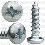 #10 X 3/4 Phillips Pan Head Tap Screw Zinc