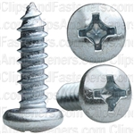 #12 X 3/4 Phillips Pan Head Tap Screw Zinc