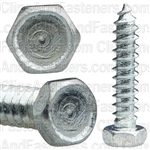 "#8 X 3/4"" Indented Hex Head Tapping Screws Zinc"
