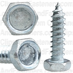 "#10 X 3/4"" Indented Hex Head Tapping Screws Zinc"