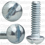 6-32 X 1/2 Slotted Round Hd Machine Screw Zinc