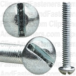 6-32 X 1 Slotted Round Hd Machine Screw Zinc