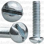 8-32 X 3/4 Slotted Round Hd Machine Screw Zinc