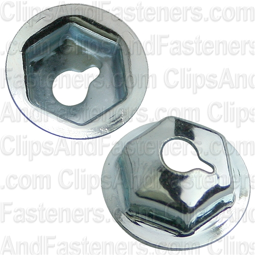 "#6-32 Washer Lock Nut 7/16"" O.D. 5/16"" Hex Zinc"
