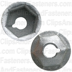"#10-32 Washer Lock Nut 1/2"" O.D. 3/8"" Hex Zinc"