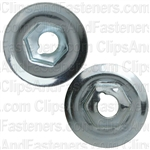 "#12-24 Washer Lock Nut 3/4"" O.D 3/8"" Hex Zinc"