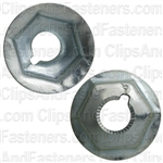 "1/4""-20 Washer Lock Nut 19/32"" O.D. 7/16"" Hex Zinc"