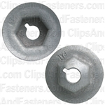 "1/4""-20 Washer Lock Nut 13/16"" O.D. 7/16"" Hex Zinc"