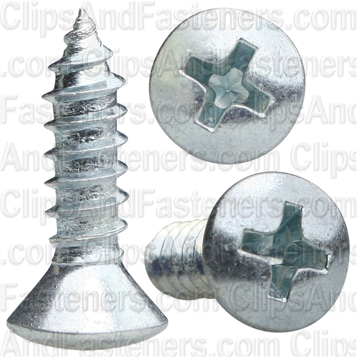 No8 X 5/8 Phillips Oval Head Tap Screw Zinc