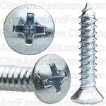 #10 X 1 Phillips Oval Head Tap Screw Zinc