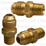 Brass Male Connector 5/16 Tube Sz 1/8 Thread