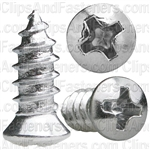 10 X 1/2 Phillips Oval #6 Hd Tap Screw Chrome