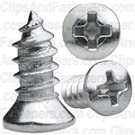 10 X 1/2 Phillips Oval #8 Hd Tap Screw Chrome