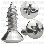 8 X 1/2 Phillips Oval Head Tap Screw Chrome