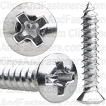 8 X 7/8 #6 Hd Phillips Oval Head Tap Screw Chrome