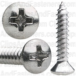 8 X 7/8 Phillips Oval Head Tap Screw Chrome