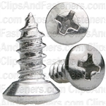 10 X 1/2 Phillips Oval Head Tap Screw Chrome
